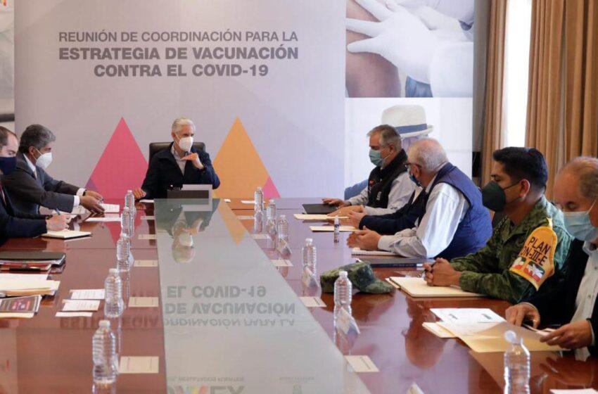 LLEVAN A CABO REUNIÓN PARA DAR SEGUIMIENTO A LA ESTRATEGIA DE VACUNACIÓN CONTRA COVID-19 EN EDOMÉX
