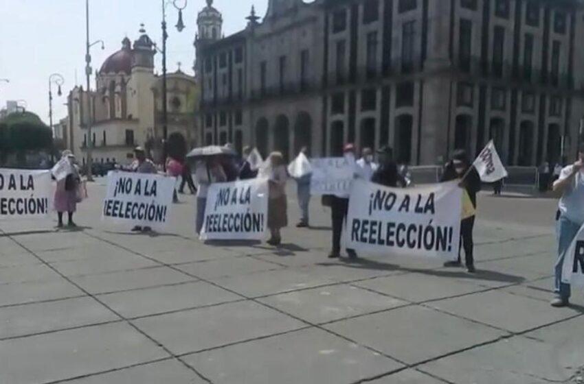 MORENISTAS SE MANIFIESTAN CONTRA REELECCIÓN DE JUAN RODOLFO