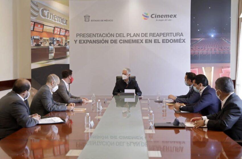 PRESENTAN PLAN DE REAPERTURA Y EXPANSIÓN DE CINEMEX EN EL ESTADO DE MÉXICO