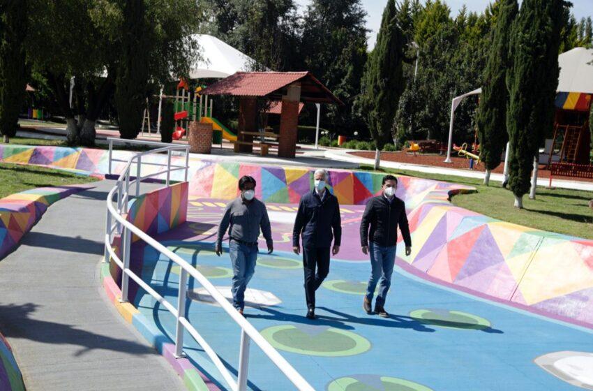 ENTREGA ALFREDO DEL MAZO MODERNIZACIÓN DEL PARQUE LAS RANAS EN SAN ANTONIO LA ISLA
