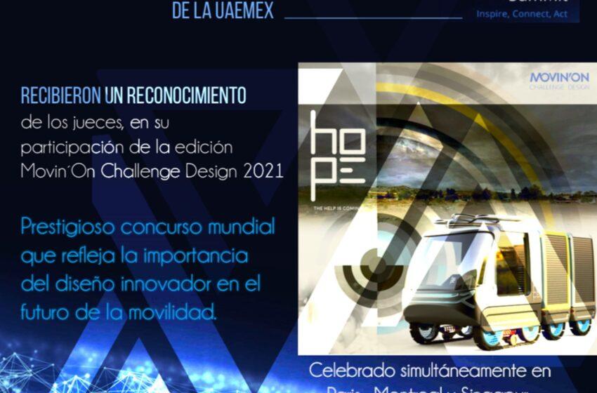 TRABAJO DE ESTUDIANTES DE LA UAEM ES RECONOCIDO EN EL MOVIN'ON CHALLENGE DESIGN 2021