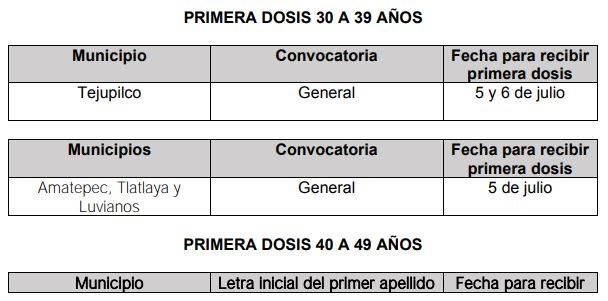 INICIO DE VACUNACIÓN PARA PERSONAS DE 30 A 39 AÑOS EN EL ESTADO DE MÉXICO