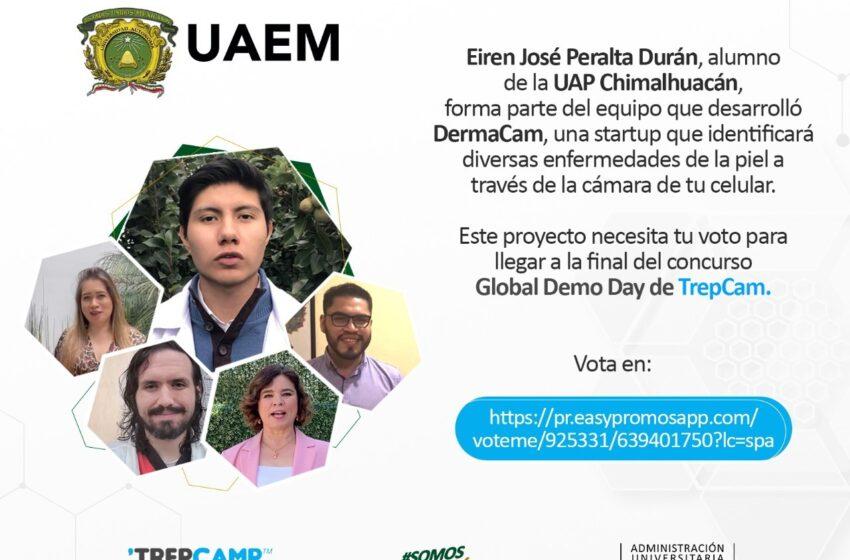 EIREN PERALTA, ESTUDIANTE DE LA UAEM CHIMALHUACAN, PARTICIPA EN PROYECTO PARA IDENTIFICAR ENFERMEDADES DE LA PIEL