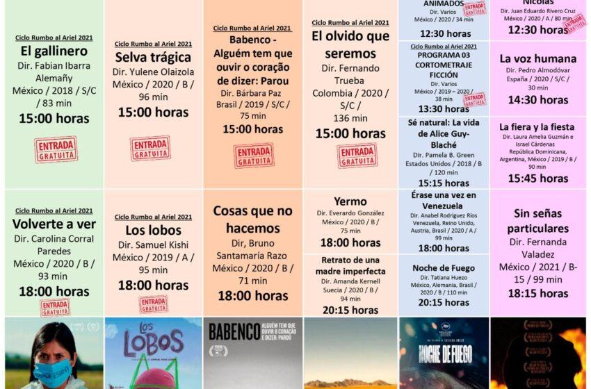 PRESENTA CINETECA MEXIQUENSE CICLO DE CINE RUMBO AL ARIEL 2021