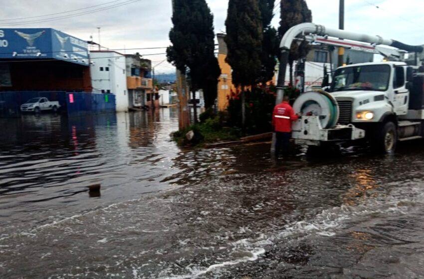 MANTIENE CAEM ATENCIÓN A CONTINGENCIAS POR LLUVIA EN CHALCO Y EL VALLE DE TOLUCA