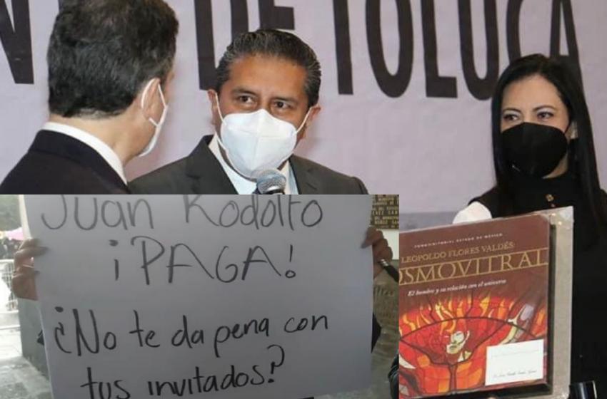 PROVEEDORES Y ARRENDADORES DE TOLUCA EXIGEN AL ALCALDE EL PAGO DE LAS DEUDAS DE SU ADMINSITRACIÓN