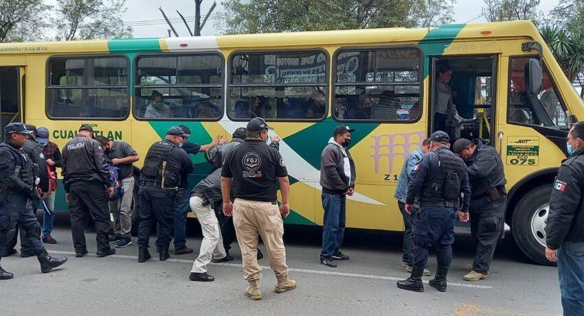 DETIENEN A 39 PERSONAS DURANTE OPERATIVO RASTRILLO REALIZADO DE MANERA SIMULTÁNEA EN COACALCO Y TULTITLÁN