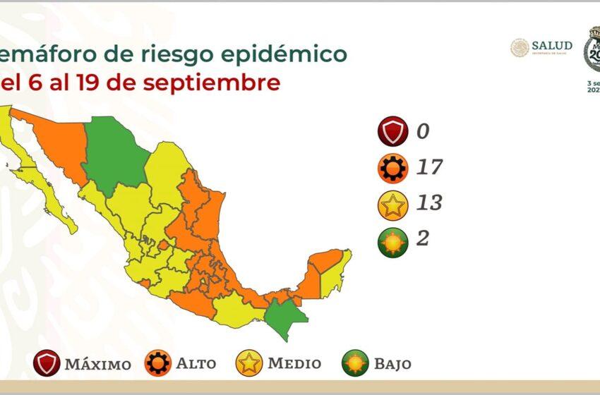 NINGUNA ENTIDAD EN ROJO EN EL SEMÁFORO EPIDÉMICO
