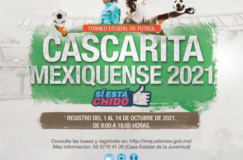 """INVITA IMEJ A PARTICIPAR EN EL TORNEO ESTATAL DE FUTBOL """"CASCARITA MEXIQUENSE 2021"""