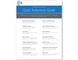 Marketing Automation Quick Reference Guide Image