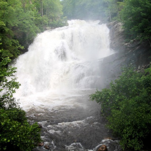 Large Waterfall in the Smoky Mountains of North Carolina