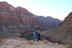David Ritz and his wife at the Grand Canyon