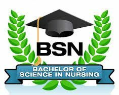 Bachelors in nursing science with hat and leaves