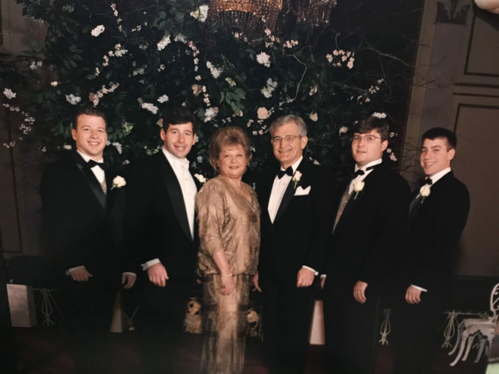 Perry and his family at the wedding