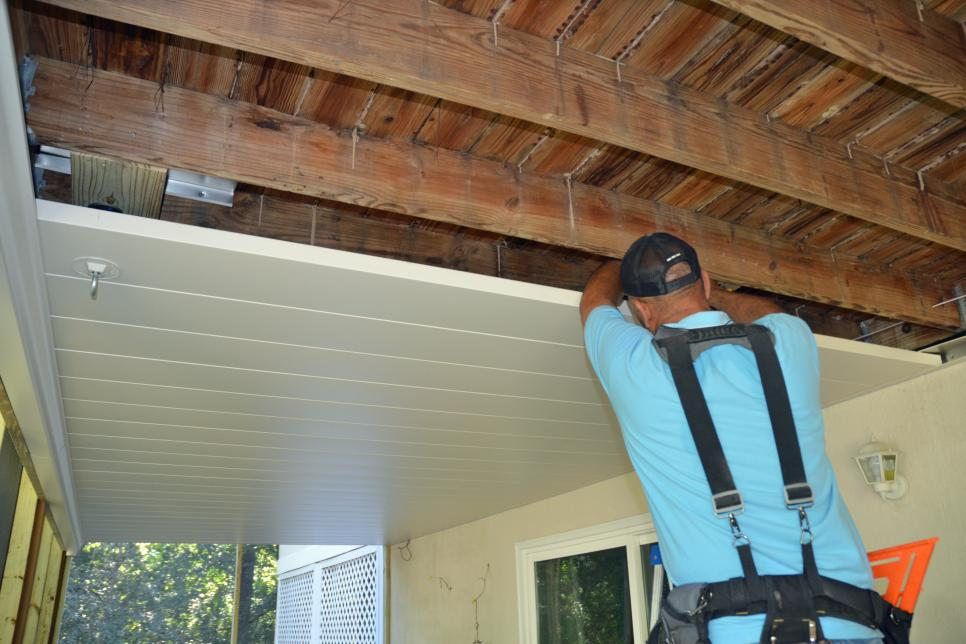 Under-Deck Roof Addition. Deck upgrades by Houston Remodeling