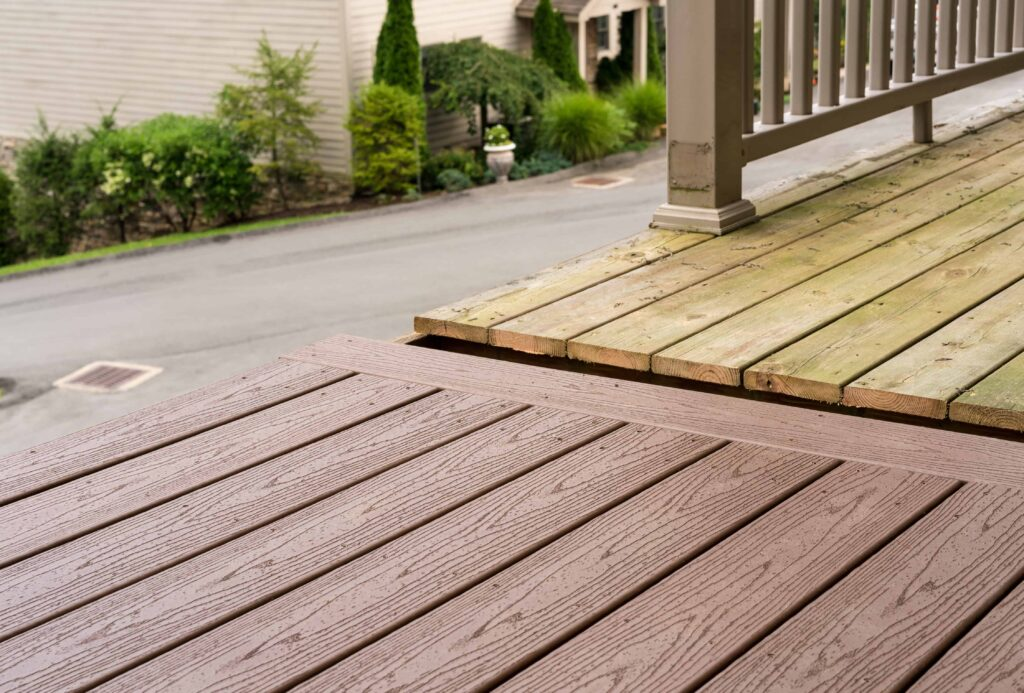 deck improvements & deck upgrades with composite decking by Houston Remodeling.