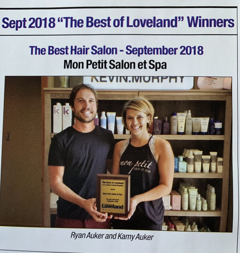 Mon Petit Salon et Spa Best of Loveland 2018 photo of owners, Ryan and Kamy Auker