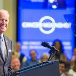 Imagen del presidente Joe Biden en picada