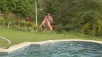 jumping into swimming pool costa rica