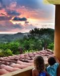 Costa Rica villa sunset