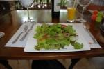 green salad from citrus restaurant ojochal