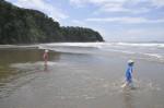 Playa Ventanas kids playing Costa Rica