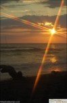 Playa dominical sunset using camera filter