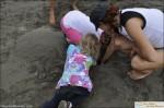 playa tortuga ojochal child