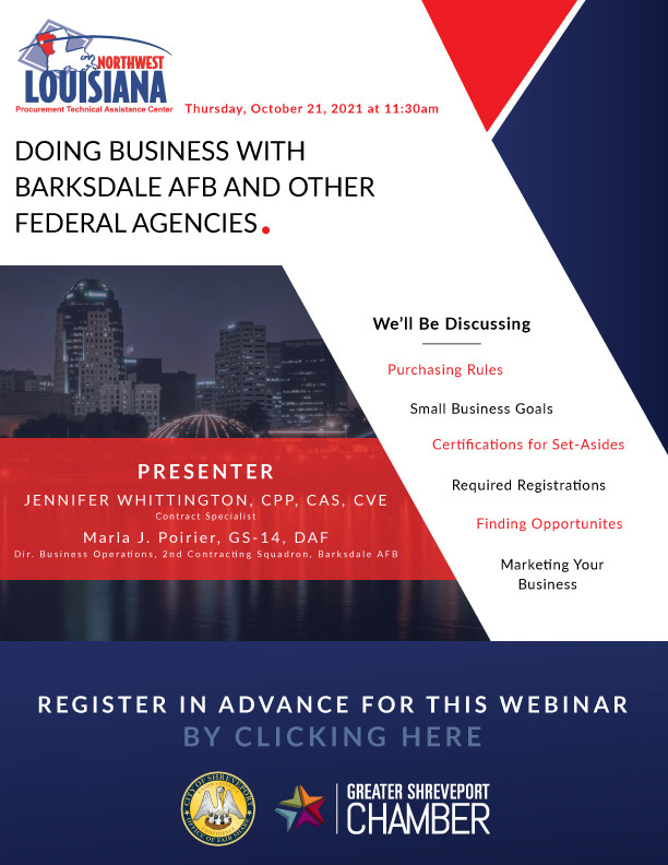 Doing Business with Barksdale AFB and other Federal Agencies @ Zoom meeting