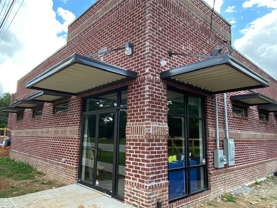 Extruded Fascia Entrance Canopies