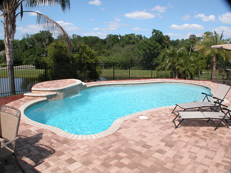 Pool and Patio with Tanning Area