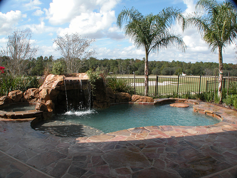 Large Patio with Grotto