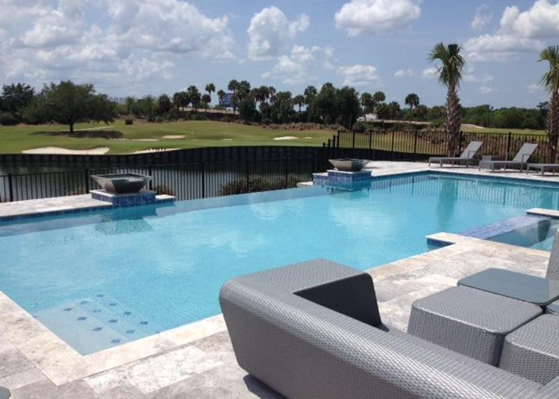 Outdoor Pool Area Overlooking Golf Course