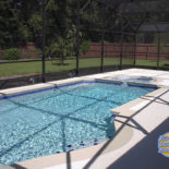 Blue Tile Work with Stucco Patio