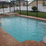 Stamped Concrete with Bubbly Spa