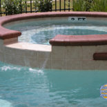 Spill Over Water Feature into Pool