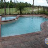 Spa and Inground Pool Overlooking Golf Course