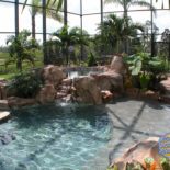 Private Pool Area with Grand Landscaping