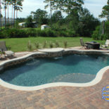 Outdoor Living Area with Pool and Firepit