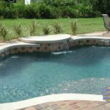 Nice tilework with Waterfall Tanning Area