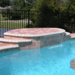 Sleek Waterfall Feature with Flat Top