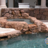 Outdoor Kitchen and Spa Area to Pool