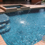 Rectangle Pool with Spa and Warer Fountain