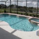 Fancy Pool Design Overlooking Lake