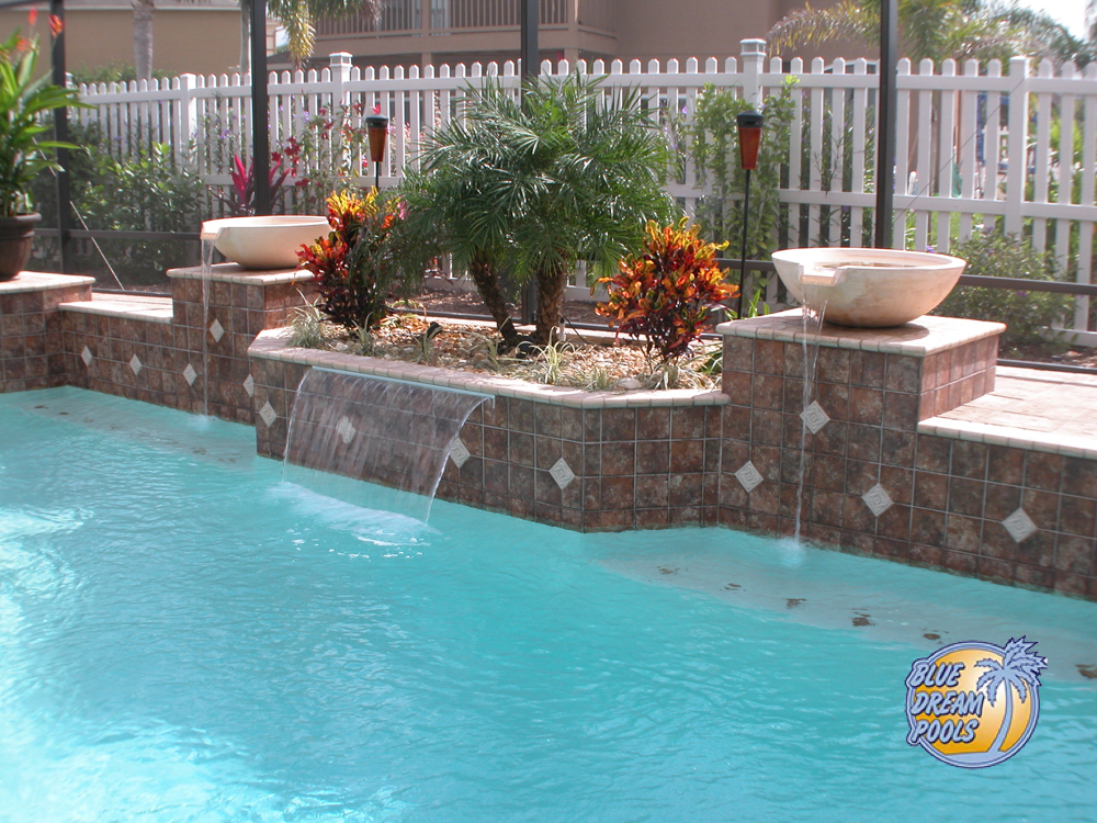 Side View of Water Features