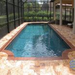 Roman Style Pool Shape with Unique Pavers