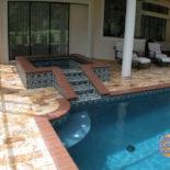 Elegant Tile Design for Pool Area