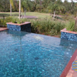 Infinity Pool with Planters