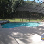 Backyard Pool with Tile Features