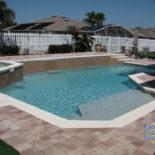 Beautiful Pool with Stone Pavers